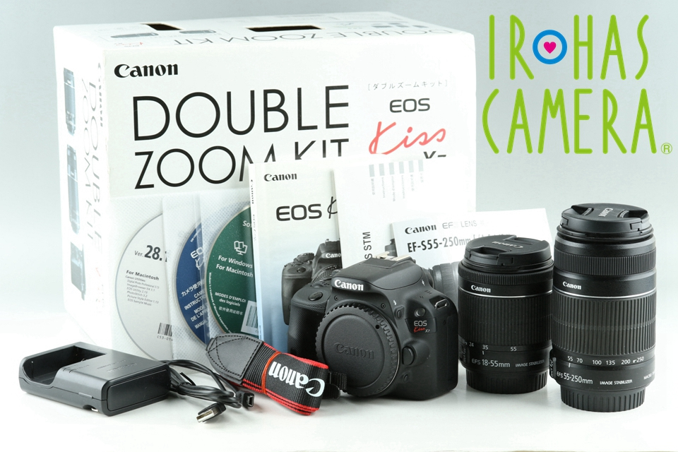 Canon EOS Kiss X7 Digital SLR Camera + 18-55mm + 55-250mm Double Zoom Kit #22857