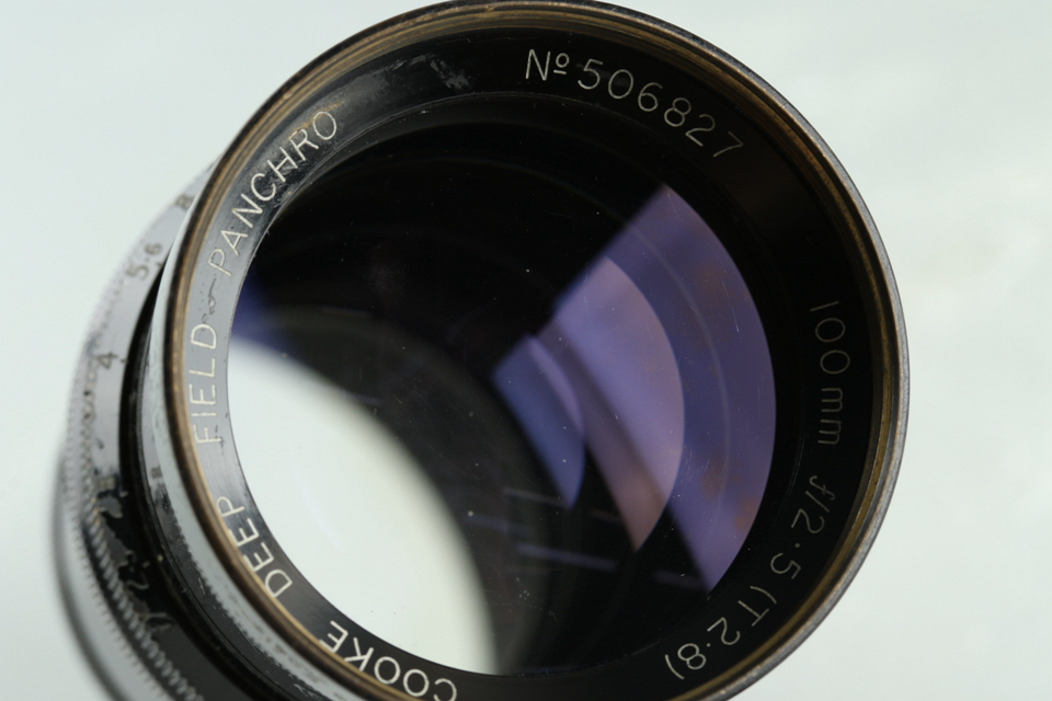 Taylor & Hobson Cooke Deep Field Panchro 100mm F/2.5 Lens #29922