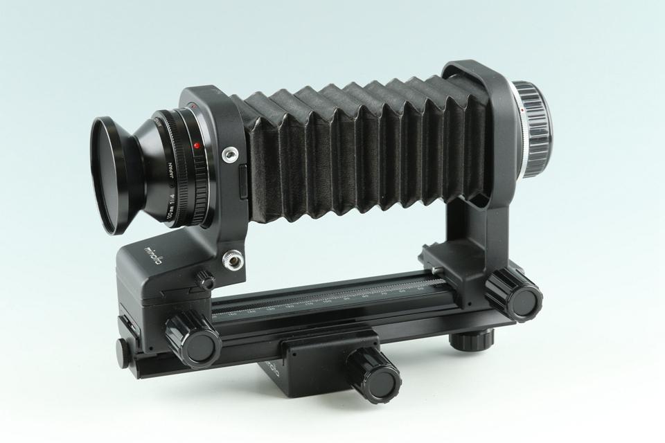 Minolta Auto Bellows Macro Rokkor 100mm F/4 Lens + Bellows #37509M